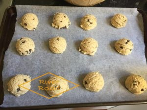 Beautifully scooped cookie dough