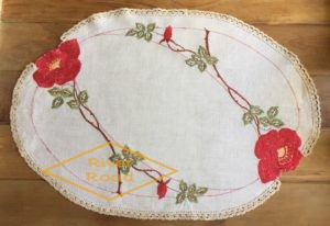 Vintage Embroidery Tray Cloth