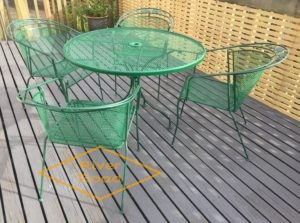 Repaint wrought iron furniture