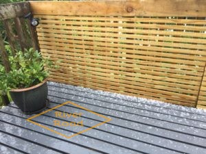 Hail on our deck