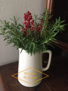 Rosemary and red berries