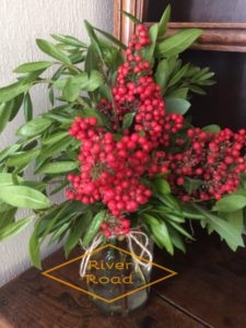 Bay leaves and red berries