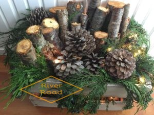 Rustic Christmas log project