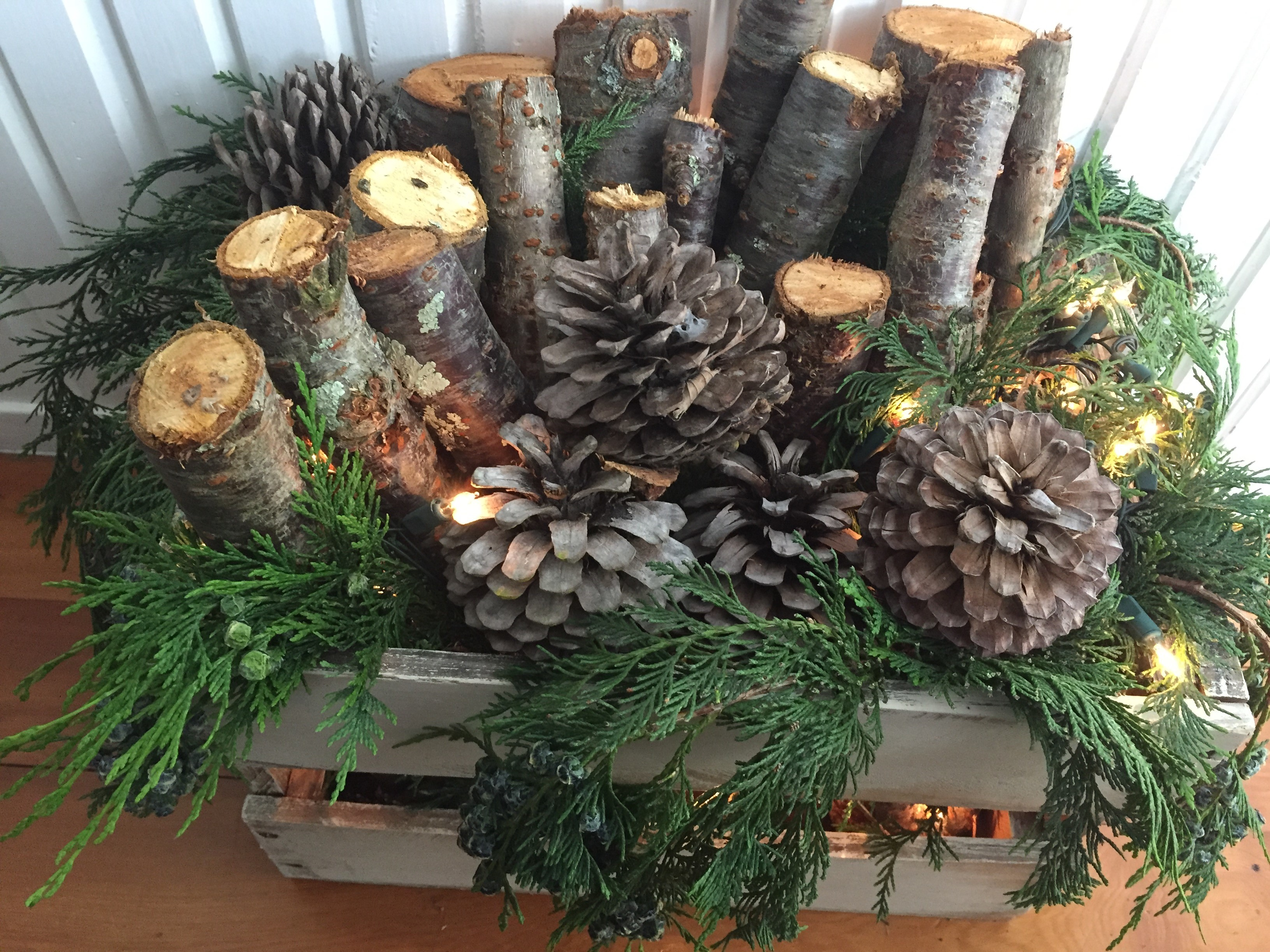 Easy to make rustic christmas log project…New Zealand