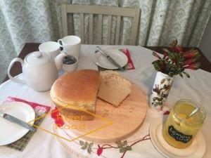 Lemon Curd with Maori bread