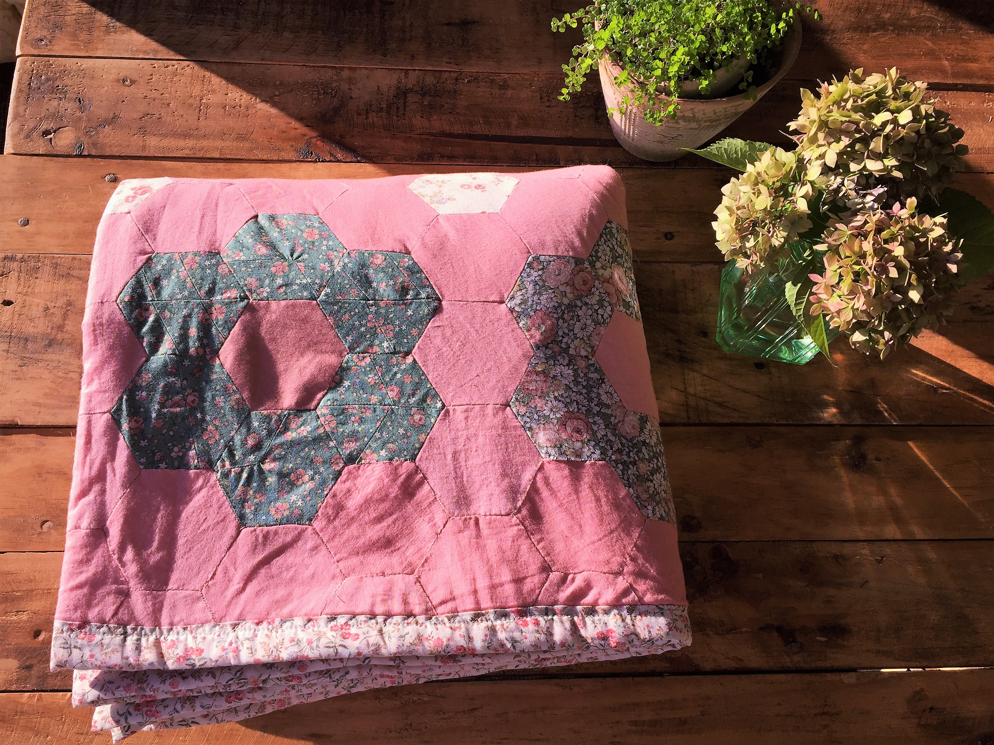 My first quilt made with love….